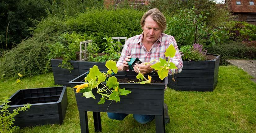 David Domoney with Garantia UK Urban Balcony Raised Bed
